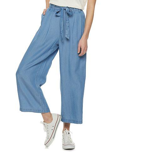Women's POPSUGAR Chambray Wide-Leg Pants