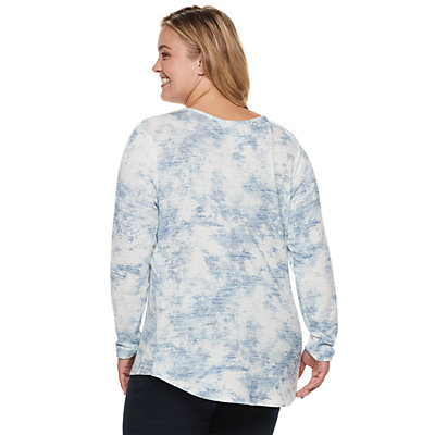 Plus Size SONOMA Goods for Life? Supersoft Crisscross Top