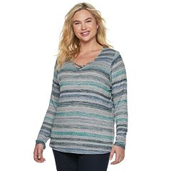 Plus Size SONOMA Goods for Life™ Supersoft Crisscross Top