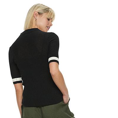 Women's POPSUGAR Striped Polo Sweater