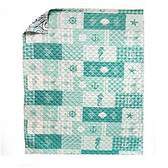 Donna Sharp Seahorse Grid Throw