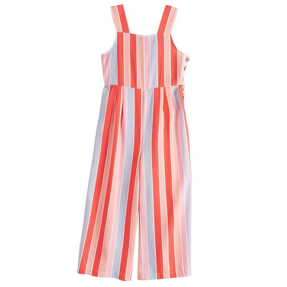Girls 7-16 My Michelle Striped Jumpsuit