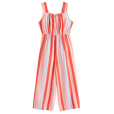 Girls 7-16 My Michelle Striped Jumpsuit