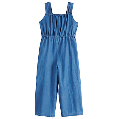 Girls 7-16 My Michelle Chambray Jumpsuit