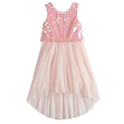 Girls 7-16 My Michelle Rainbow Sequin Popover Dress