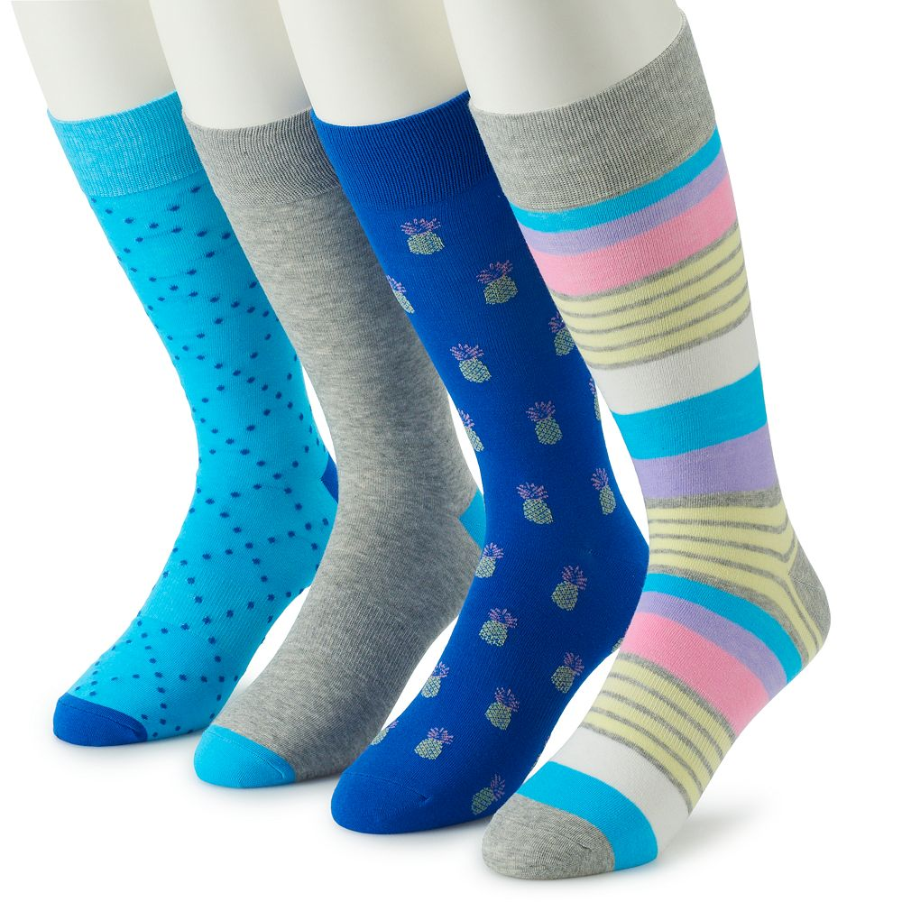 Men's Croft & Barrow® 4-Pack Opticool Crew Socks