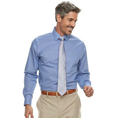 Big & Tall Croft & Barrow® Non-Iron Spread Collar Stretch Dress Shirt
