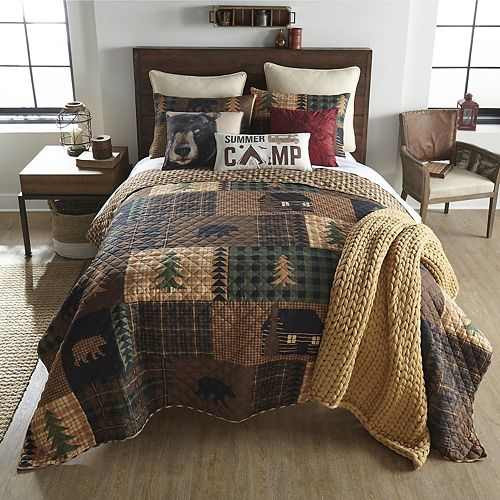 Donna Sharp Cabin Forest Quilt Set