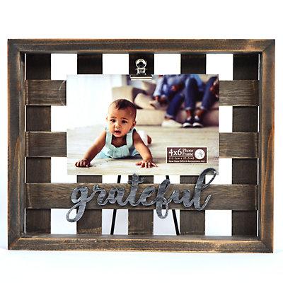 """New View """"Grateful"""" Basket Clip Frame"""