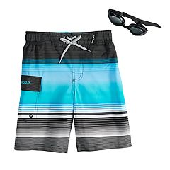 Boys 4-7 ZeroXposur Rip Cord Swim Trunks & Goggles Set