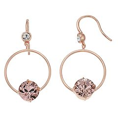 Brilliance Open Circle Drop Earrings with Swarovski Crystals