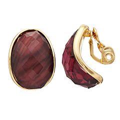 Dana Buchman Button Earrings
