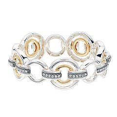 Dana Buchman Tri Tone Circle Link Stretch Bracelet
