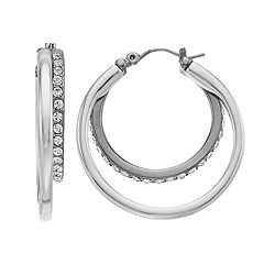 Dana Buchman Two Tone Double Hoop Earrings