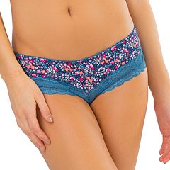 Juniors' SO® Lace-Trim Cheeky Panty