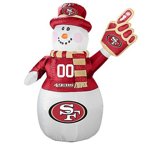 Boelter San Francisco 49ers Inflatable Snowman