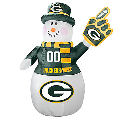 Boelter Green Bay Packers Inflatable Snowman