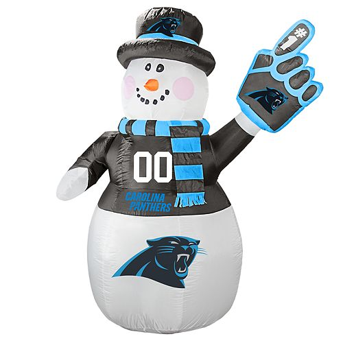 Boelter Carolina Panthers Inflatable Snowman