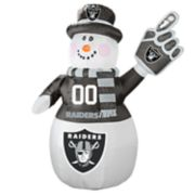Boelter Oakland Raiders Inflatable Snowman