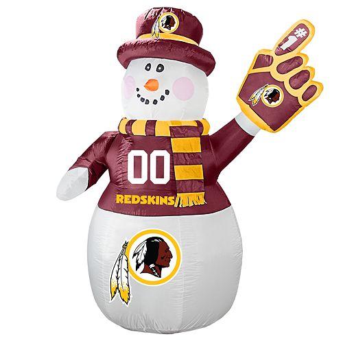 Boelter Washington Redskins Inflatable Snowman