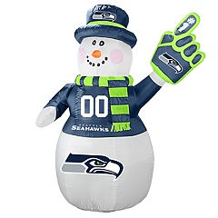 Boelter Seattle Seahawks Inflatable Snowman