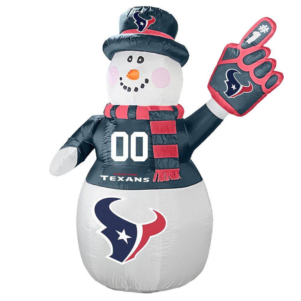 Boelter Houston Texans Inflatable Snowman