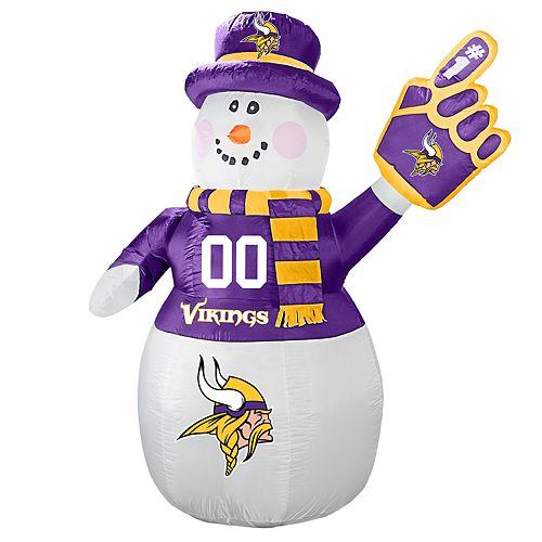 Boelter Minnesota Vikings Inflatable Snowman