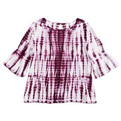 Girls 7-16 & Plus Size Mudd® Bell Sleeve Challis Top