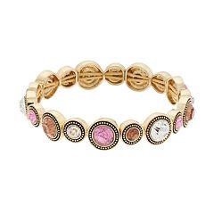 Napier Glass Stretch Bracelet