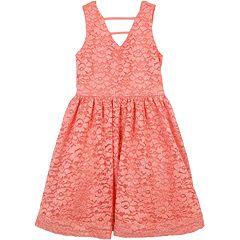 Girls 7-16 Speechless Floral Lace Sleeveless Dress