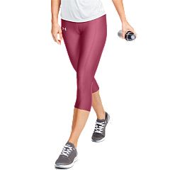 d3f4683c36cb70 Women's Under Armour Speed Stride Midrise Run Capri Leggings. Black Impulse  Pink
