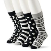 Men's HS by Happy Socks 4-pack Patterned Crew Socks in Gift Box