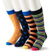 Men's HS by Happy Socks 4-pack Patterned Crew Socks in Gift Box