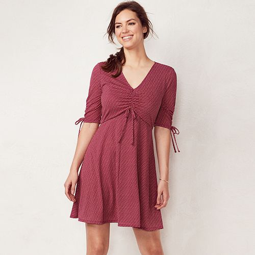 fa2f9f70ad5 Women s LC Lauren Conrad Print Fit   Flare Dress