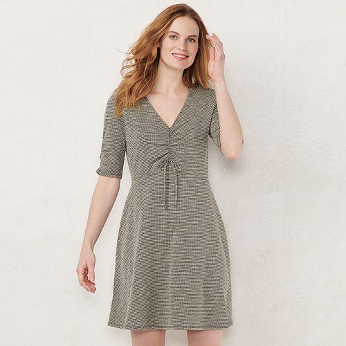 89acdb86b65e3 Women s LC Lauren Conrad Print Fit   Flare Dress