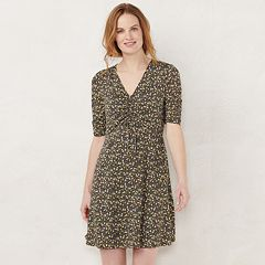 Women's LC Lauren Conrad Print Fit & Flare Dress