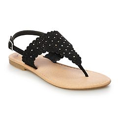 SO® Scalloped Girls' Thong Sandals