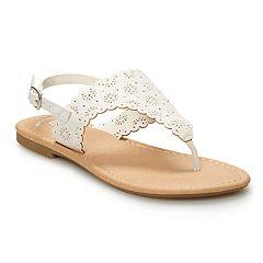 adffdd91c21792 SO® Scalloped Girls  Thong Sandals
