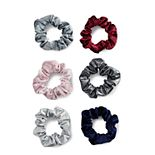 SO® Velour & Metallic Scrunchie Hair Tie Set