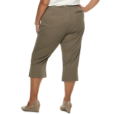 Plus Size Croft & Barrow Classic Stretch Twill Capris