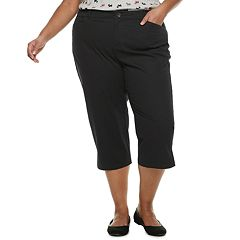 Plus Size Croft & Barrow® Classic Stretch Twill Capris