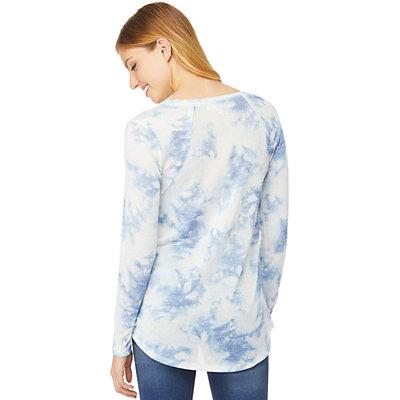 Juniors' WallFlower Printed Long Sleeve Top