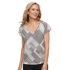 Women's Dana Buchman Print Layered Hem Top