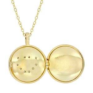 Stella Grace Sterling Silver Diamond Accent Heart Locket Necklace