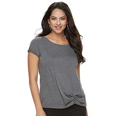 Women's Rock & Republic® Ruched Scoopneck Tee