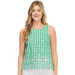 Women's IZOD Eyelet Embroidered Tank