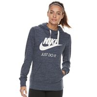 Nike Womens Sportswear Gym Vintage Hoodie (Thunder Blue)