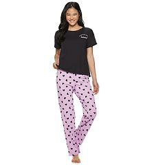 Juniors' SO® Boxy Tee & Pajama Pants Set