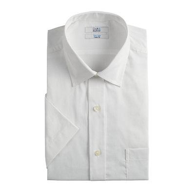 Men's Croft & Barrow® Easy-Care Short Sleeve Spread-Collar Dress Shirt