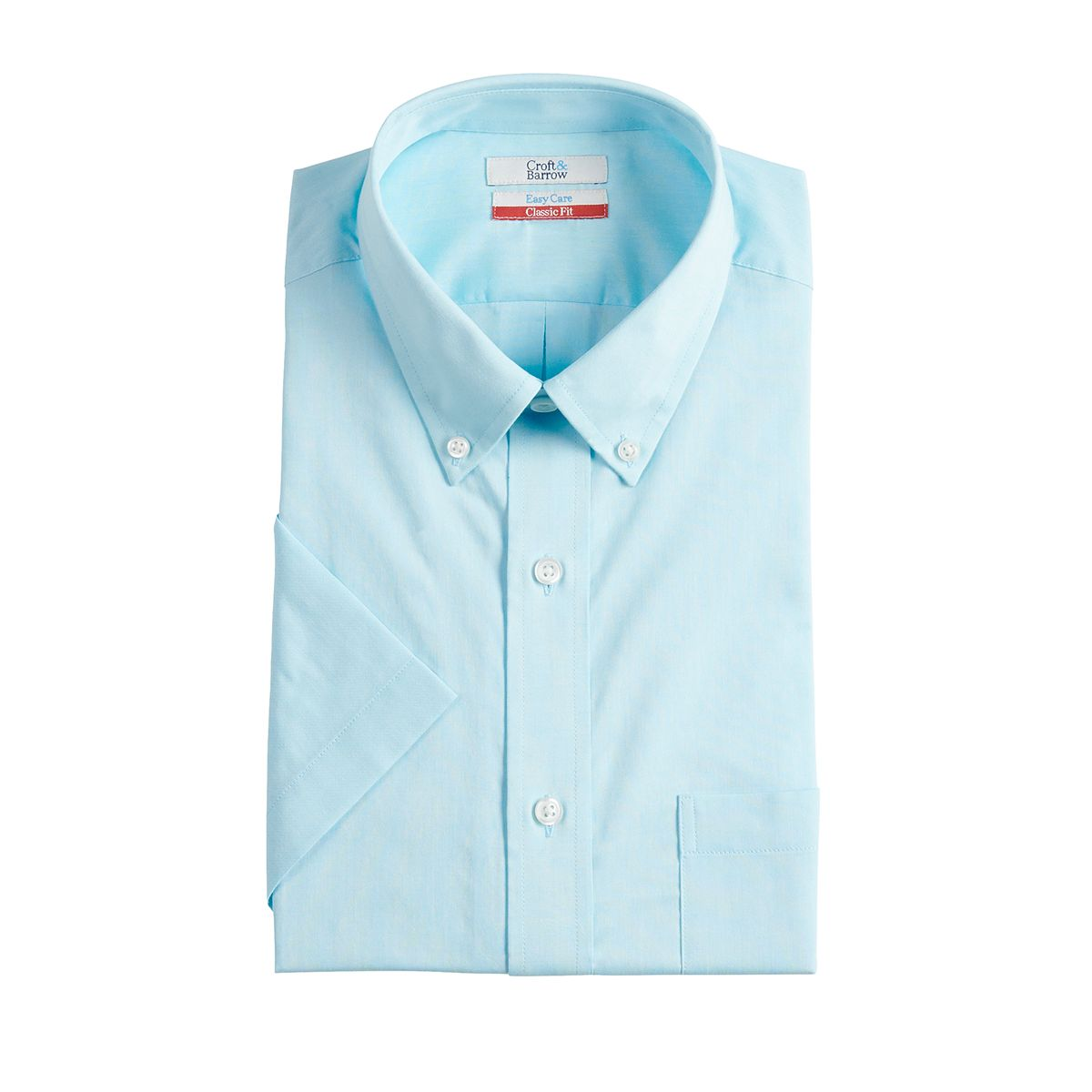 Men's Croft & Barrow Classic-Fit Easy-Care Short-Sleeved Button-Down Collar Dress Shirt (select colors/sizes)